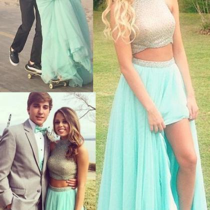 Light Green Two Pices Prom Dresses ..