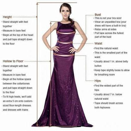V Neck Beaded Prom Dresses, Sexy Ev..