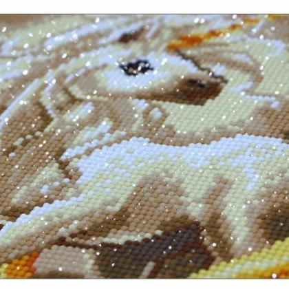 Full,Diamond Embroidery,Animal,Unic..