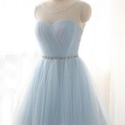 Light Blue Homecoming Dresses with..