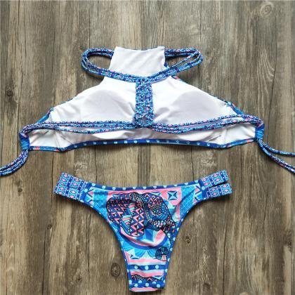 Women Fashion Swimsuits Sexy Flola..