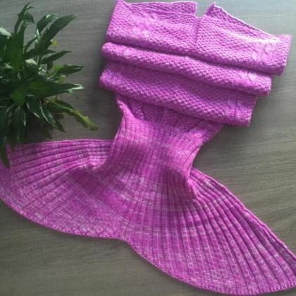 Beauty Purple Knitted Mermaid Blank..
