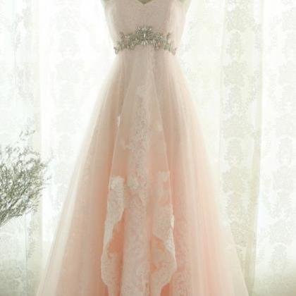 Fashion Off the Shoulder Pink Tulle..