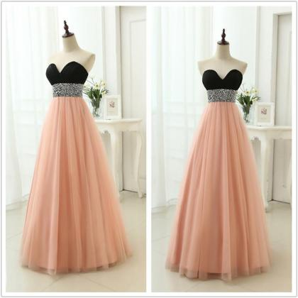 Off Shoulder Beaded Long Prom Dress..