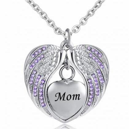 Mom Cremation Jewelry for Ashes Kee..