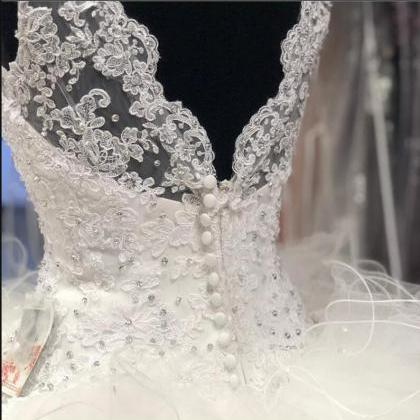 Sexy Ball Gowns Lace Appliqued Bead..