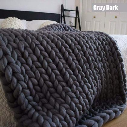 Size 40x80Inches Chunky Knit Blanke..
