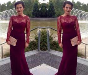 Burgundy Lace Mermai..