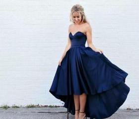 Dark Blue High Low P..