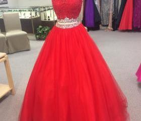 red quinceanera dres..