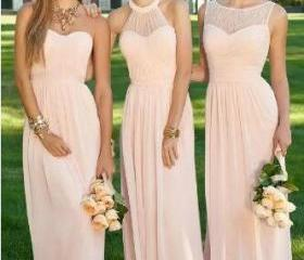 Blush Pink Cheap Lon..