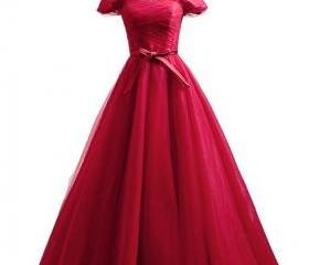 Red Prom Dress A Lin..