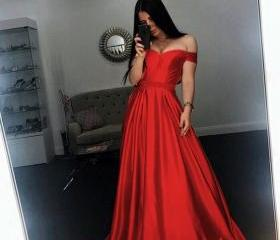 Newly Red Satin A Li..
