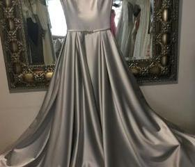 Cheap Silver Satin L..