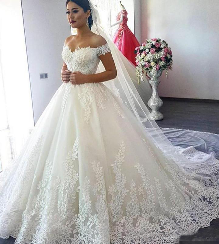 Luxury Plus Size Lace A Line Wedding Dresses With Spaghetti Straps