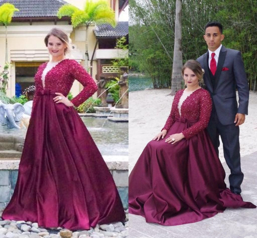 Prom Dress,Elegant Plus Size Prom Dresses,Purple Prom Gown,Prom Dresses  Long Sleeves, Evening Gown Long, Plus Size Evening Dress,Formal Dress,Maxi  ...