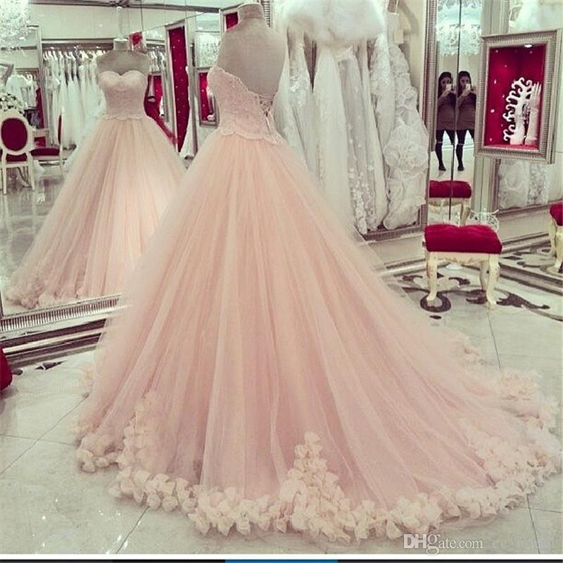 329f9f940 Pink Quinceanera Dresses Sweetheart Applique Lace Sweet 16 Dresses ...