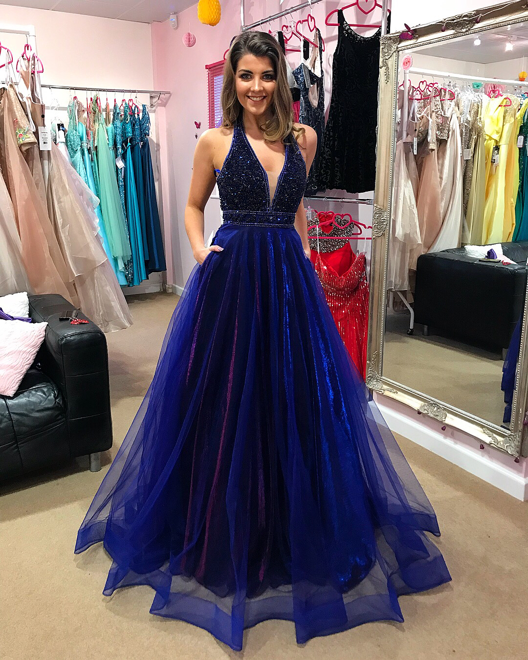 2018 Plus Size Long Prom Dresses Beaded Corset Formal Evening Dresses New  Arrival Wedding Party Gowns A Line Women Pageant Gowns , Arabic Evening ...