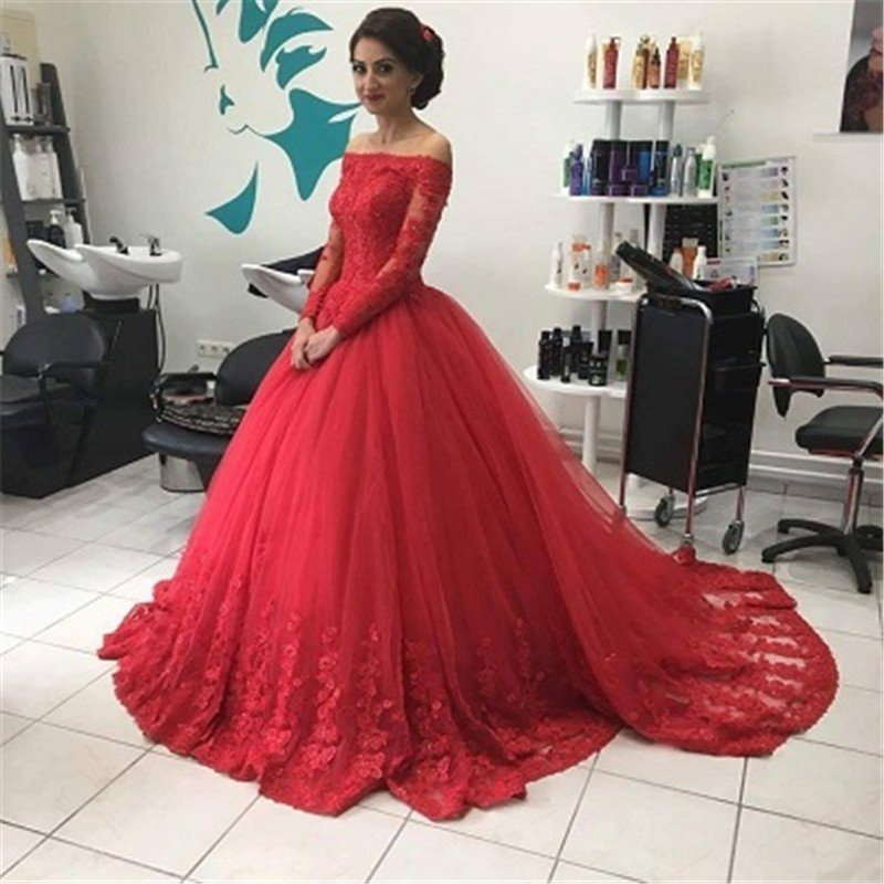 Off The Shoulder Long Sleeve Prom Dresseslong Prom Dressescheap