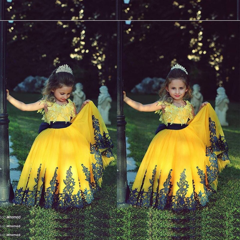 New arrial yellow wedding flower girls dresses pricess flower girls new arrial yellow wedding flower girls dresses pricess flower girls gowns a line girls gowns hand made flower girls gowns ce girls gowns mightylinksfo