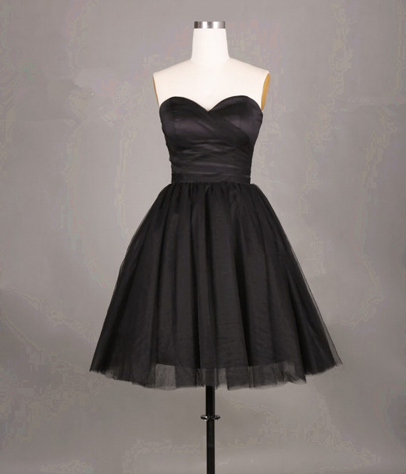Simple and Cute Black Short Tulle Prom Dresses Short Prom Dresses Graduation Dresses homecoming Dresses,Black Short Cocktail Dress, Girls Pageant Gowns
