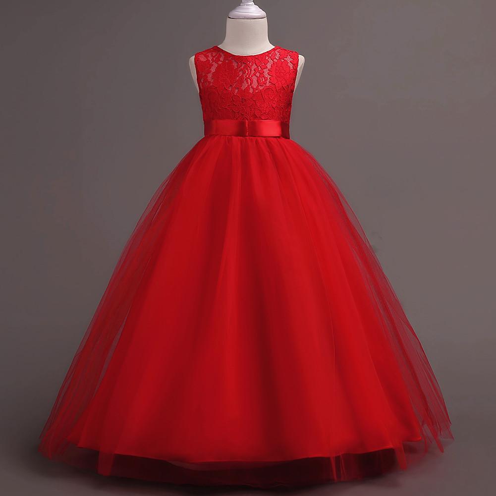 New Arrival Red Lace Flower Girls Dresses, Cheap Girls Gowns , Floor ...
