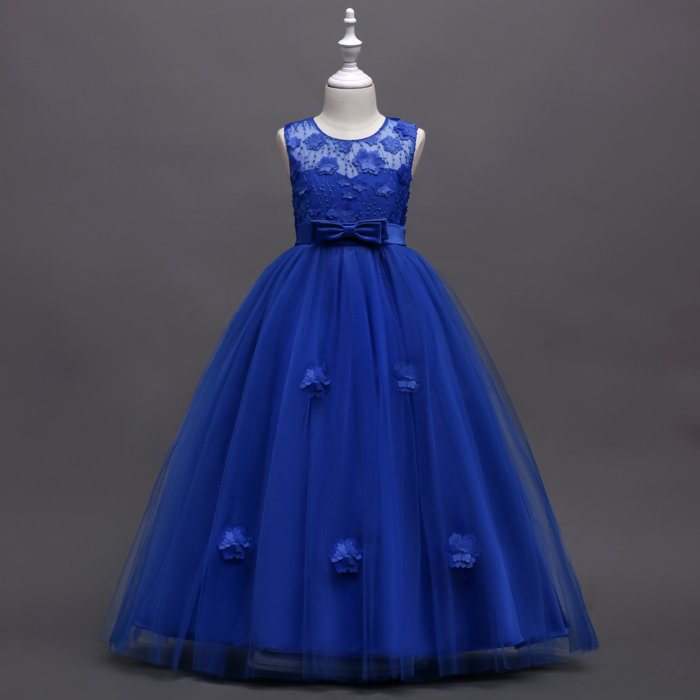 Wedding Flower Girls Dresses, Royal Blue Flower Girls Dresses, Lace ...