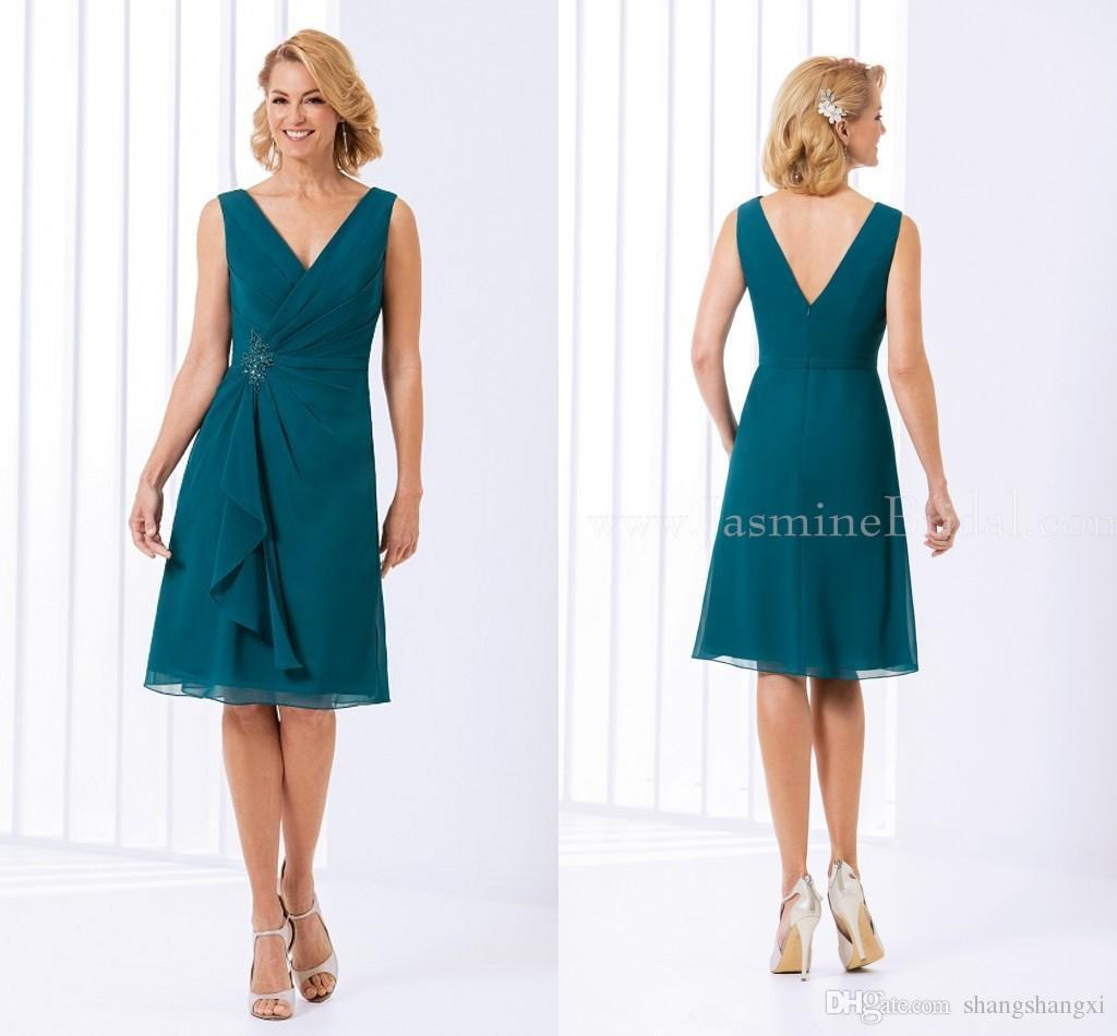 New Arrival Chiffon Mother Of The Bride Dresses Plus Size Short ...