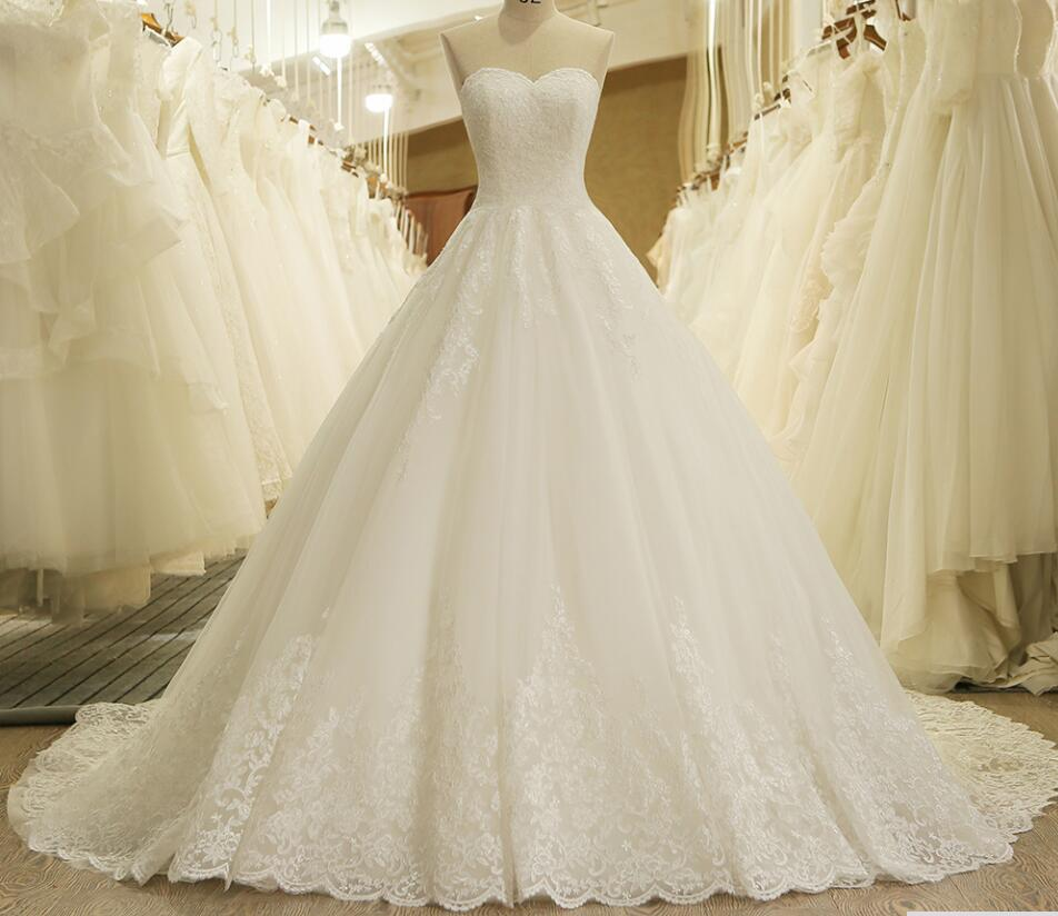 New Arrival White Lace Pricess Wedding Dresses Ball Gowns Women Wedding Gowns , Bridal Dress ,Off Shoulder Country Bridal Dresses,Custom Made Bridal Gowns