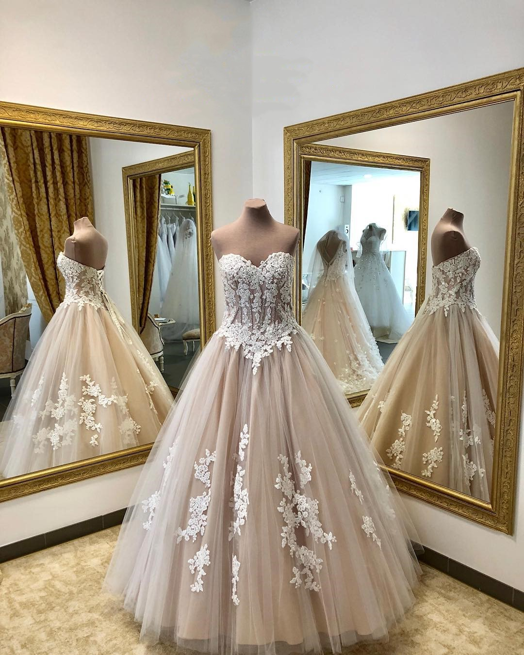 Fashion Light Champagne Tulle China Wedding Dress Plus Size Lace Pricess  Wedding Gowns Pricess Women Bridal Gowns