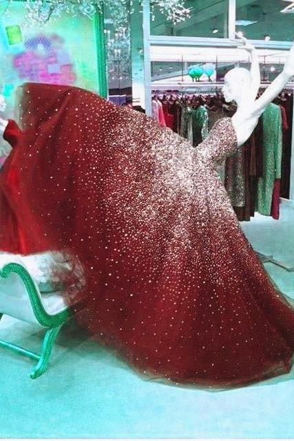 Luxury Crystal Rhineston Ball Gown Prom Dress Off Shoulder Girls Party Dresses Pricess Tull Formal Gowns Summer Gowns Graduation