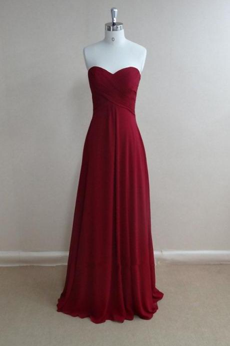 Simple and pretty Burgundy Prom Dresses 2018, High quality Prom Gown 2018, Bridesmaid Dresses, Evening Dresses, Formal Dresses,Burgundy Dress Burgundy