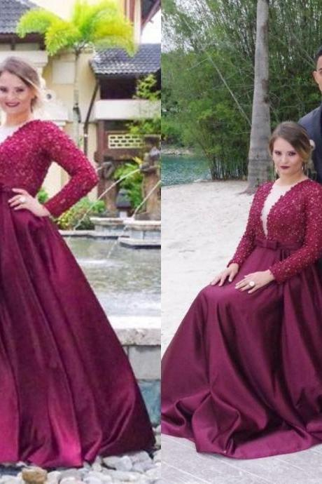 Prom Dress,Elegant Plus Size Prom Dresses,Purple Prom Gown,Prom Dresses Long Sleeves, Evening Gown Long, Plus Size Evening Dress,Formal Dress,Maxi Dress,Party Dress,Ball Gown,Wedding Guest Prom Gowns, Formal Occasion Dresses,Formal Dress