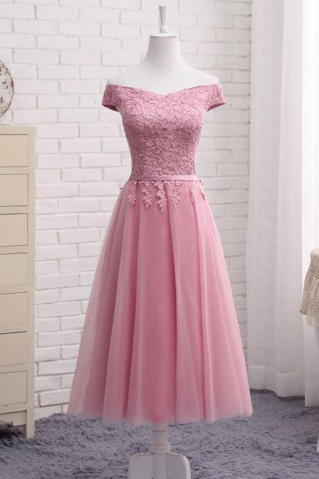 Tea Length Prom Dresses, Short Prom Dresses,Short Prom Dresses for Juniors, Short Prom Dress with Corset Back, 2018Tulle Prom Dress Short, Evening Dress for Woman