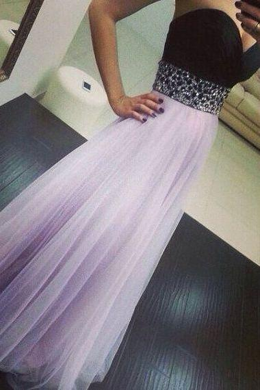 Custom Made A Line Sweetheart Neck Floor Length Prom Dresses, Dresses for Prom, Prom Party Dresses, Evening Dresses,2018 Beded Formal Party Dresses