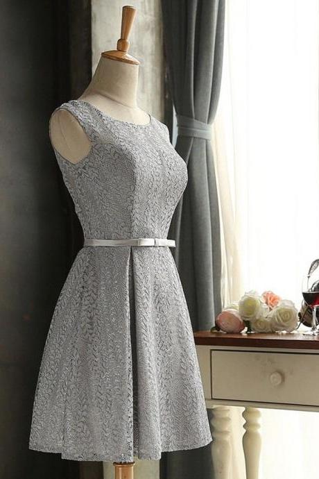 Vintage Short Bridesmaid Dresses Prom Dresses 2018 Plus Size Wedding Party Gowns ,2018 Sexy Maid Of Honor Dresses, Silver Lace Mini Bridesmaid Dress, Women Party Gowns ,Cheap Bridesmaids Dresses,Spaghetti Straps Homecoming Dress Short , Prom Dress Mini