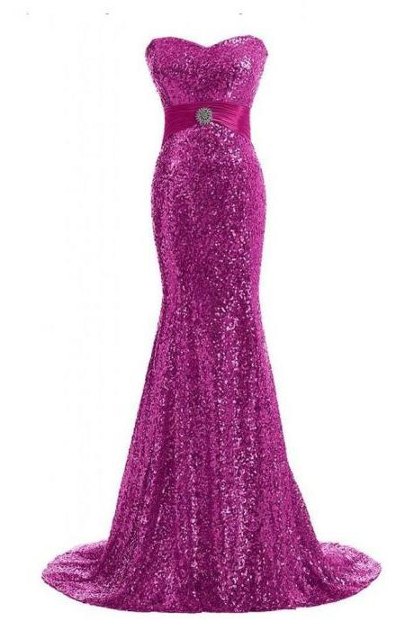 Sexy Sequined Mermaid Prom Dresses 2018 Shiny Plus Size Formal Evening Dresses Off Shoulder Wedding Bridesmaid Dresses , Wedding Party Dress, Formal Prom Gowns , Long Bridesmaid Gowns