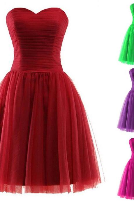 Vintage Red Chiffon Bridesmaid Dresses Prom Dresses Plus Size Wedding Party Gowns ,2018 Sexy Maid Of Honor Dresses, Women Party Gowns ,Cheap Bridesmaids Dresses