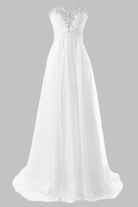 Plus Size White Chiffon Long Prom Dresses Off Shoulder 2018 Crystal Ruffle Formal Evening Dresses A LIne Wedding Party Dresses