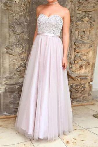 Charming Prom Dress, Tulle Prom Dresses, Long Evening Dress, Homecoming Dress,2018 Plus Size Long Prom Gowns , Wedding Party Gowns