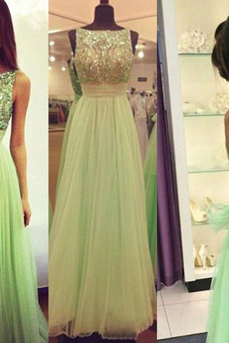 Prom Dress,Mint Green Prom Dress,Backless Prom Dress,Sexy Prom Dress,Modest Prom Dress,Tulle Prom Dress,Beaded Prom Dress,Sequin Prom Dress,Long Prom Dress,Wedding Guest Dress, Wedding Party Dress