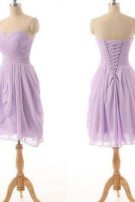 Pretty Short bridesmaids dresses, Sexy Mismatched bridesmaid dress, Cheap bridesmaid dresses,Bridesmaid Dresses,2018 Lavender Chiffon Wedding Party Gowns