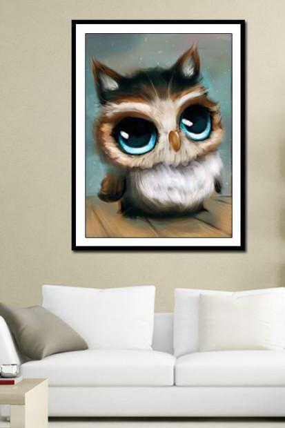 Special Shaped Diamond Embroidery Animal Owl Full DIY Diamond Painting Cross Stitch 3D Diamond Mosaic Bead Picture Decor 2018 Latest Diamond Painting