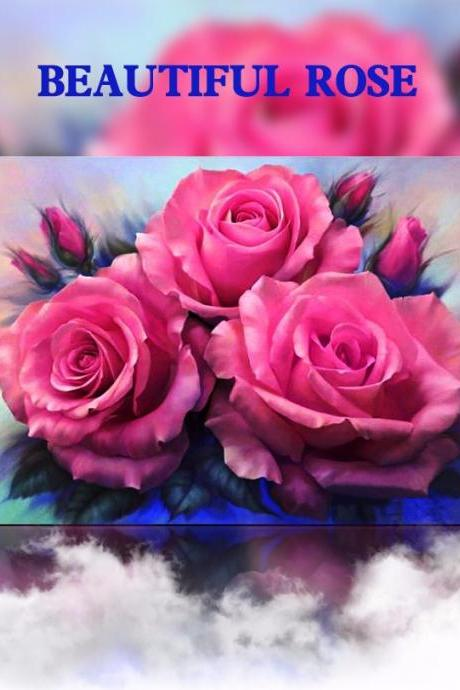 Full,Diamond Embroidery,Flower,Rose,5D,Diamond Painting,Cross Stitch,3D,Diamond Mosaic,Needlework,Crafts,Christmas,Gift,Embroidery Cross Stitch ,mosaic pictures