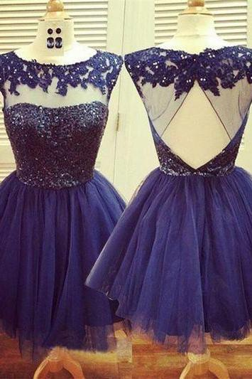 Blush Navy Blue Evening Gowns,Sexy Formal Dresses,Chiffon Prom Dresses, Fashion Evening Gown,Sexy Evening Dress,Real Photo Dress,Cocktail Dress,Homecoming Dress, Girls Party Dress .