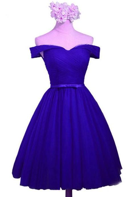 Royal Blue Knee Length Formal Dress, Blue Party Dresses, Royal Blue Formal Dresses,2018 Plus Size Women Party Gowns ,Mini Cocktail Gowns ,Girls Party Gowns ,Women Gowns