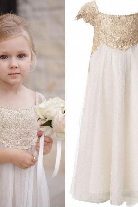 New Arrial Lace Wedding Flower Girls Dresses, Pricess Flower Girls Gowns .A Line Girls Gowns .Hand Made Flower Girls Gowns Pricess Girls Gowns .,A Line Party Gowns ,Wedding Kids Gowns ,