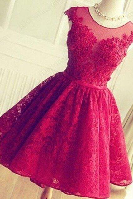 Lace Homecoming Dress Short Prom Dresses Wedding Reception Dress,Sexy Short Homecoming Dess,Girls Dress For Teens , Short Prom Dress, Lace Graduation Gowns . Knee Lenght Cocktail Dress