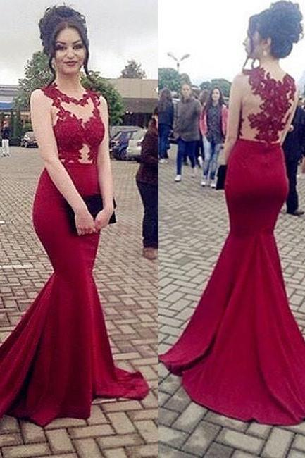 Off Shoulder Lace Prom Dresses 2018 Plus Size Mermaid Party Gowns ,Custom Made Wedding Party Gowns ,Girls Party Gowns , New Arrival Arabic Evening Dress .