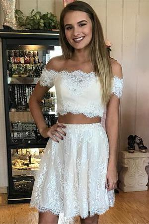 two pieces women party gowns ,.2 pieces short cocktail dress, 2 pieces lace short prom dresses, girls teens gowns , cheap party gowns